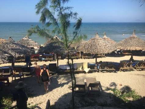 View from the restaurant above An Bang Beach, Hoi An