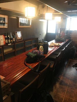Our very own bar as you walk into the Waterlily Airbnb home