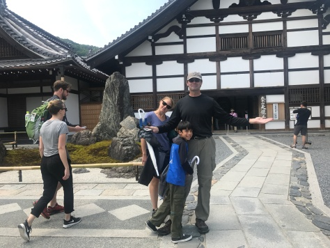 The outside of Tenryu-ji meditation hall