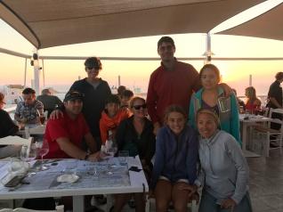 Harpers and Jenkins families in Santorini, Greece.
