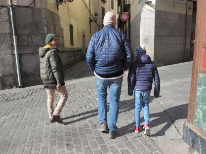 Alan and John on walking tour